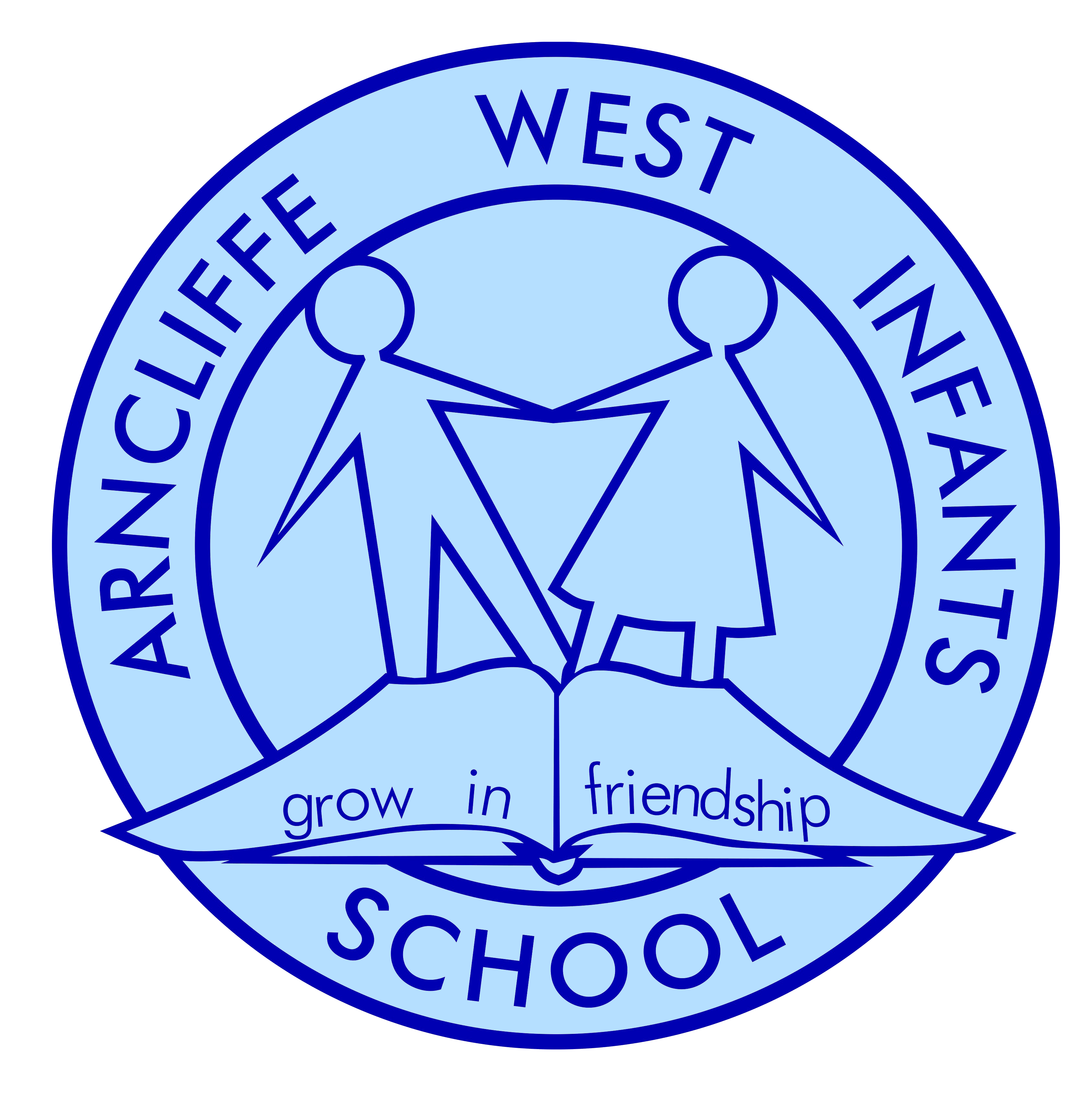Arncliffe West Infants School logo